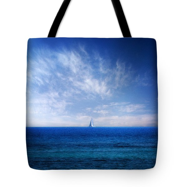 blue mediterranean Tote Bag by Stylianos Kleanthous