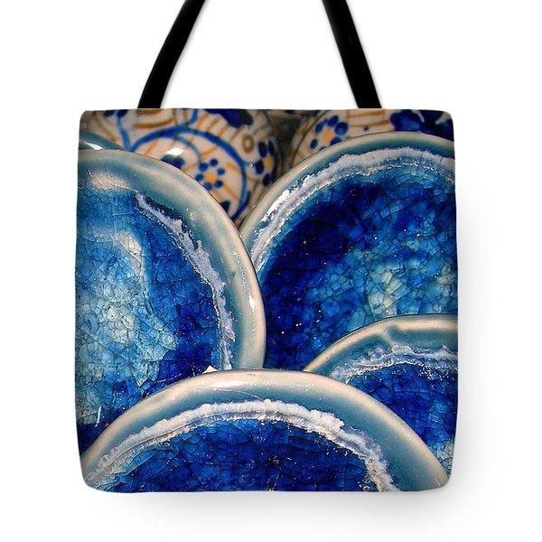 Blue On Blue Tote Bag by Judi Bagwell
