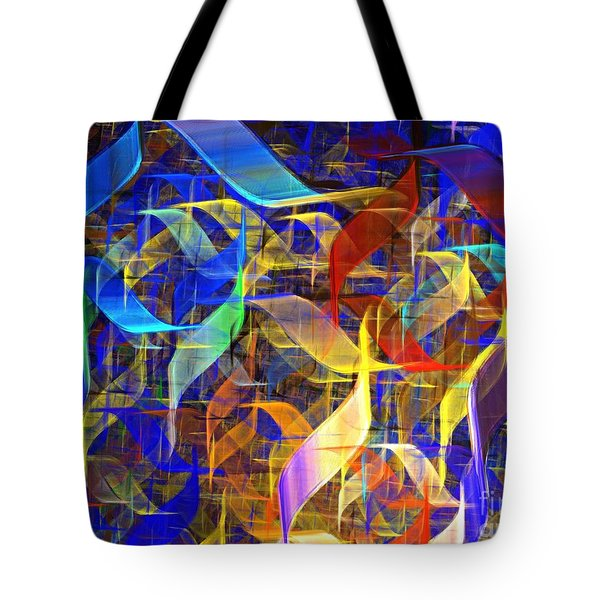 Blue Shift Tote Bag by Kim Sy Ok