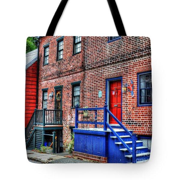 Blue Steps Tote Bag by Debbi Granruth