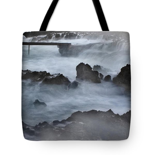 Blue Storm..protaras Tote Bag by Stelios Kleanthous