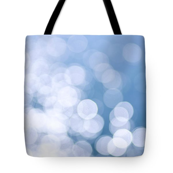 Blue water and sunshine abstract Tote Bag by Elena Elisseeva