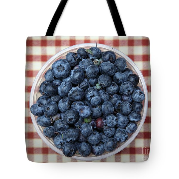 Blueberries - 5D17825 Tote Bag by Wingsdomain Art and Photography