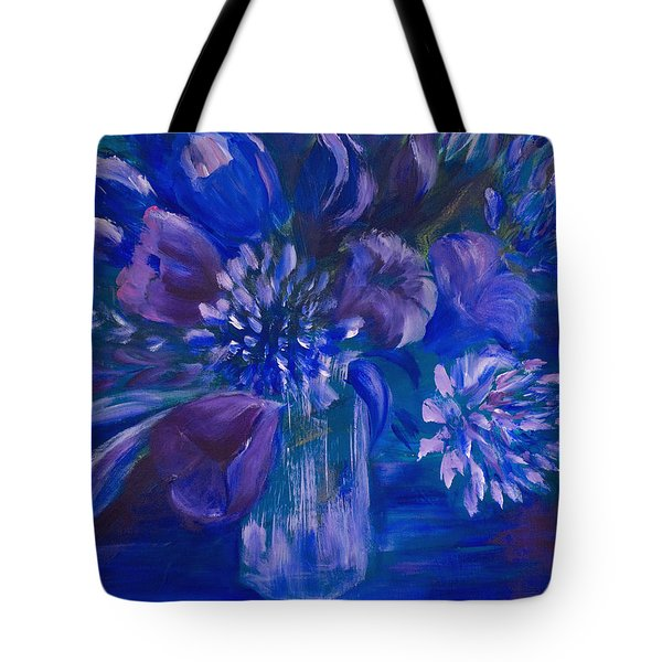 Blues To Brighten Your Day Tote Bag by Joanne Smoley