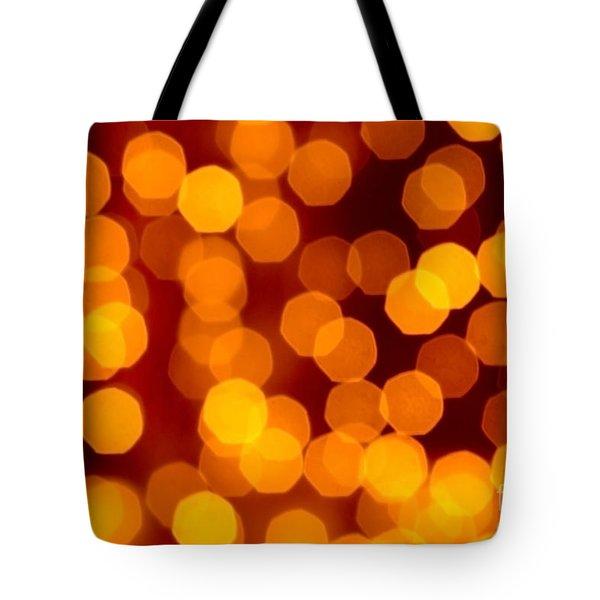 Blurred Christmas Lights Tote Bag by Carlos Caetano