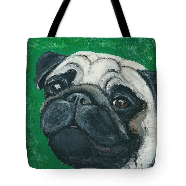 Bo The Pug Tote Bag by Ania M Milo