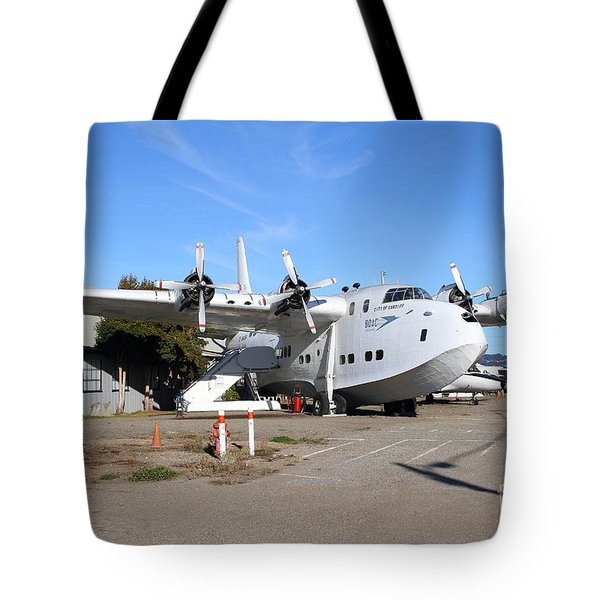 BOAC British Overseas Airways Corporation Speedbird Flying Boat . 7D11249 Tote Bag by Wingsdomain Art and Photography