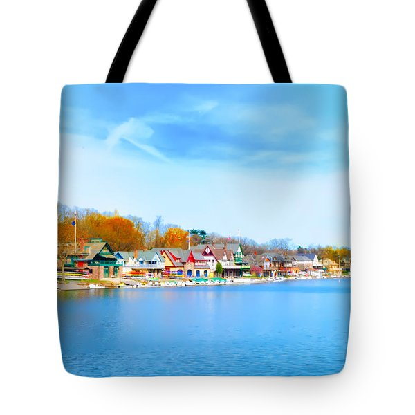 Boat House Row from West River Drive Tote Bag by Bill Cannon