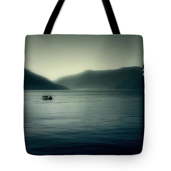 boat on the Lake Maggiore Tote Bag by Joana Kruse