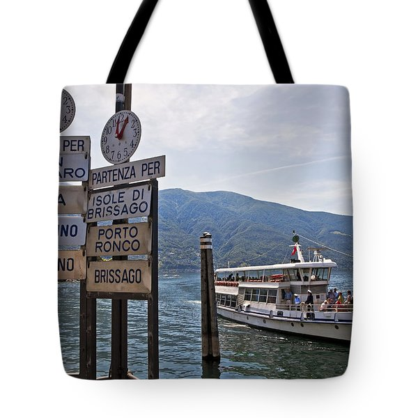 Boat trip on Lake Maggiore Tote Bag by Joana Kruse