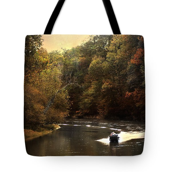 Boating On The Hatchie Tote Bag by Jai Johnson