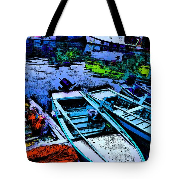 Boats 2 Tote Bag by Mauro Celotti