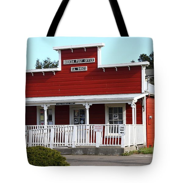 Bodega Post Office . Bodega Bay . Town Of Bodega . California . 7d12455 Tote Bag by Wingsdomain Art and Photography