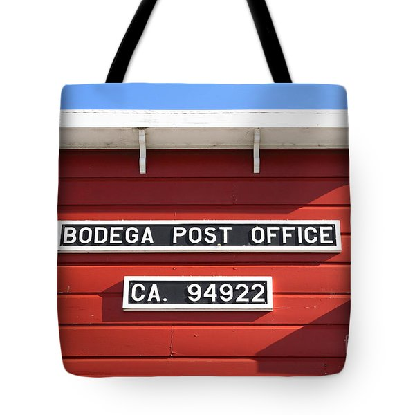 Bodega Post Office . Bodega Bay . Town Of Bodega . California . 7d12465 Tote Bag by Wingsdomain Art and Photography
