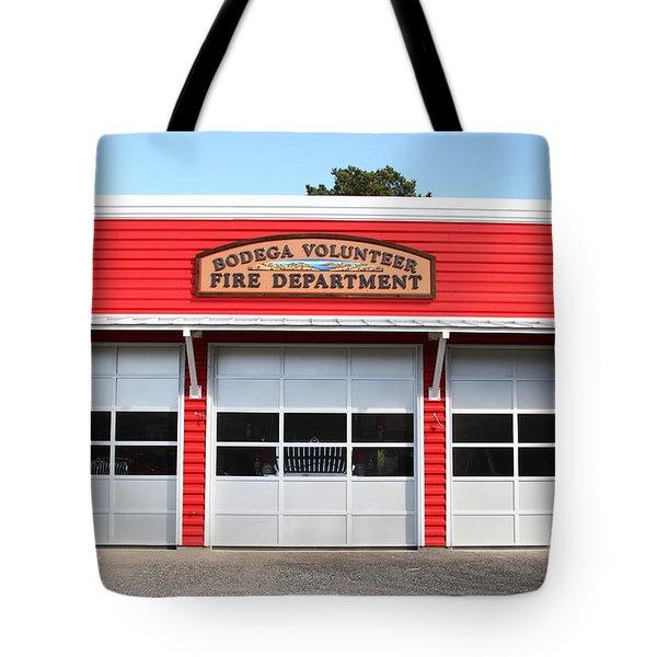 Bodega Volunteer Fire Department . Bodega Bay . Town Of Bodega . California . 7d12461 Tote Bag by Wingsdomain Art and Photography