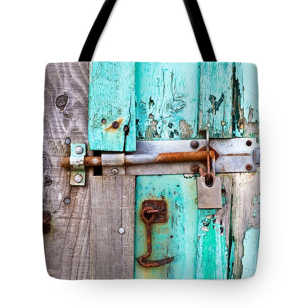 Bolted door Tote Bag by Tom Gowanlock