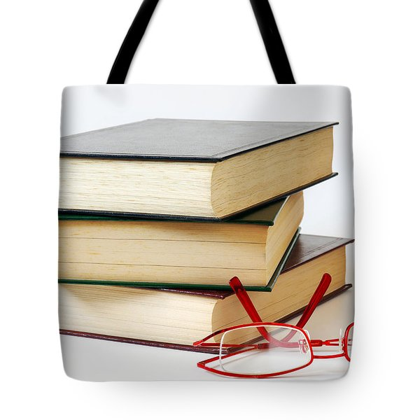 Books And Glasses Tote Bag by Carlos Caetano