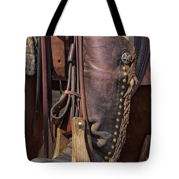 Boots Of A Drover Tote Bag by Joan Carroll
