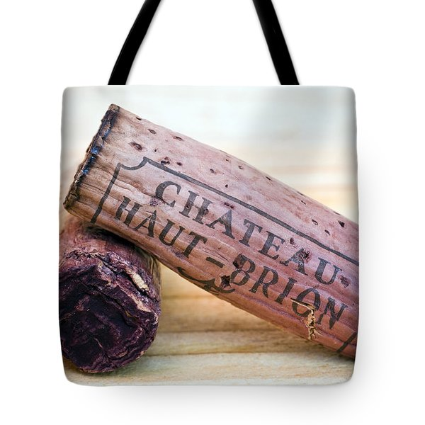 Bordeaux Wine Corks Tote Bag by Frank Tschakert