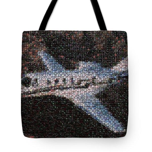 Bottle Cap Cessna Citation Mosaic Tote Bag by Paul Van Scott