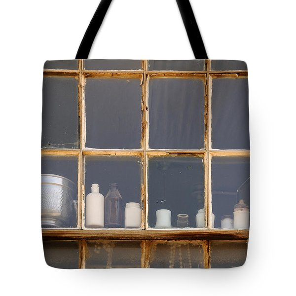 Bottles In The Window Tote Bag by Vivian Christopher
