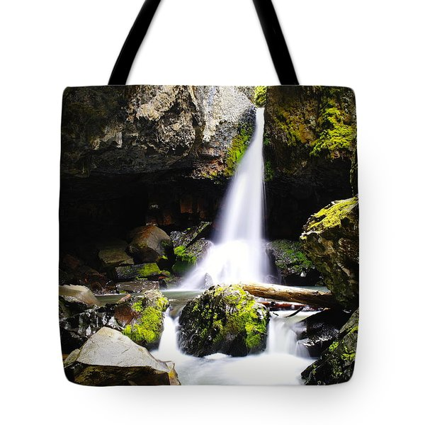 Boulder Cave Falls Revisited Tote Bag by Jeff Swan