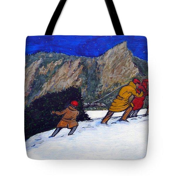 Boulder Christmas Tote Bag by Tom Roderick