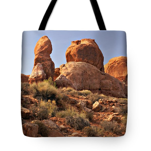 Boulder Landscape Tote Bag by Marty Koch