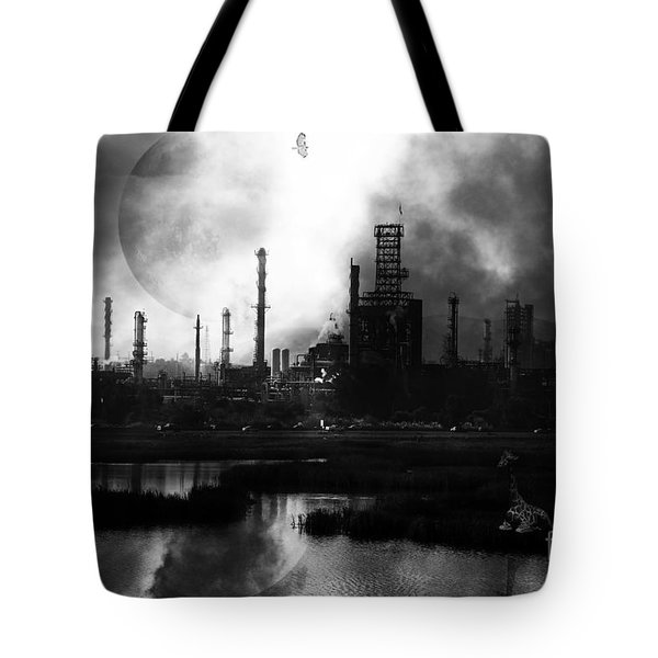 Brave New World - Version 2 - Black And White - 7d10358 Tote Bag by Wingsdomain Art and Photography