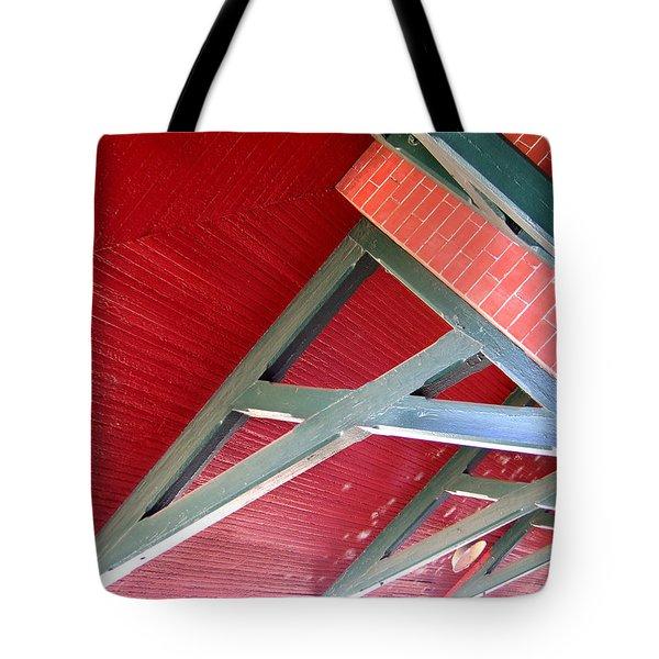 Brick And Wood Truss Tote Bag by Denise Keegan Frawley