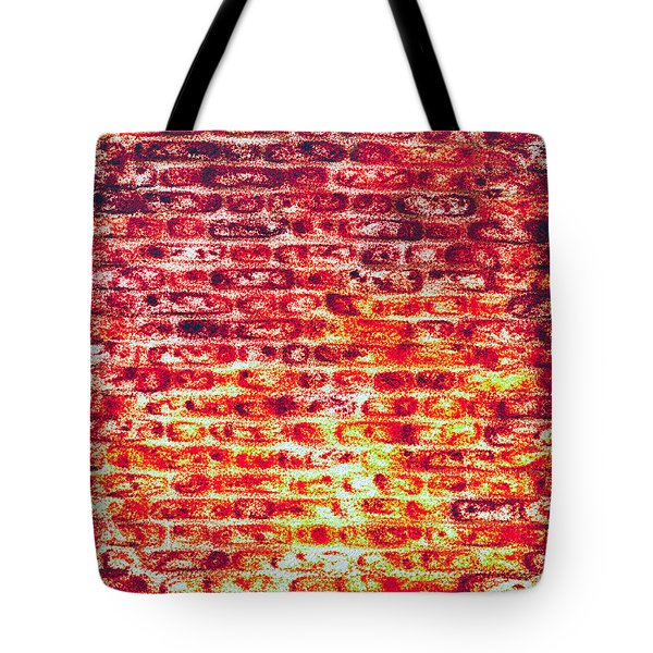Brick Wall In Pencil Tote Bag by Tom Gowanlock