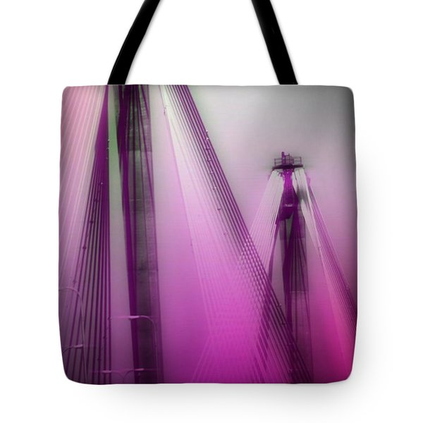 Bridge Cables One Tote Bag by Marty Koch