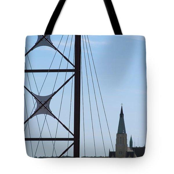 Bridge Fortress Tote Bag by Tina M Wenger