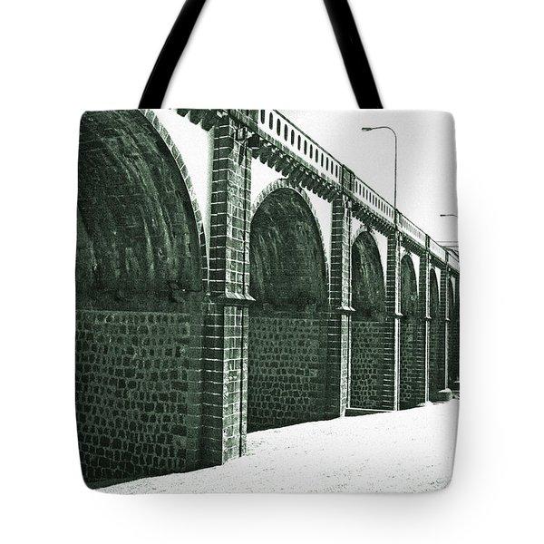 Bridge In Ribeira Grande Tote Bag by Gaspar Avila