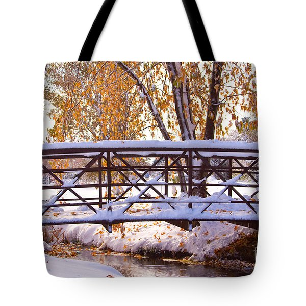 Bridge Over Icy Waters Tote Bag by James BO  Insogna