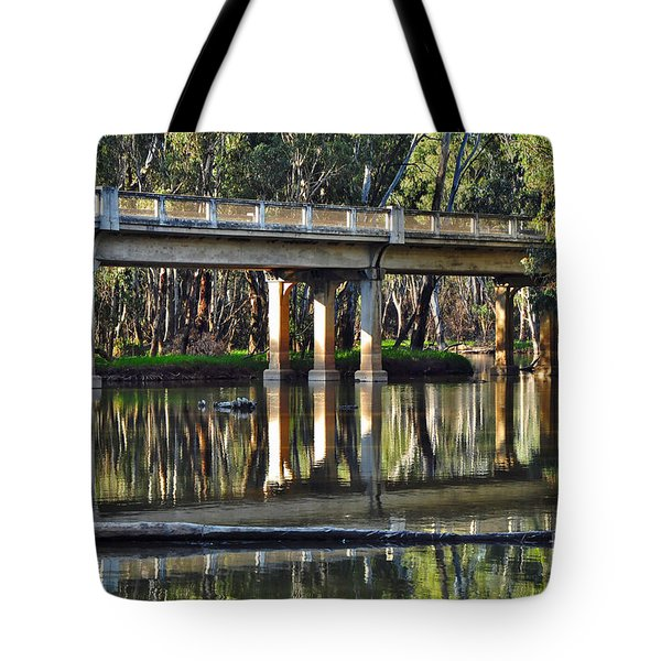 Bridge over Ovens River 2 Tote Bag by Kaye Menner