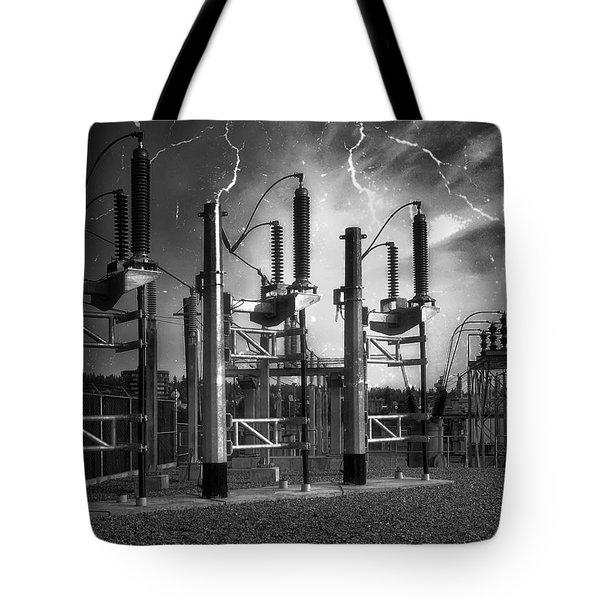 BRIDGE ST POWER SUBSTATION 2 - SPOKANE WASHINGTON Tote Bag by Daniel Hagerman