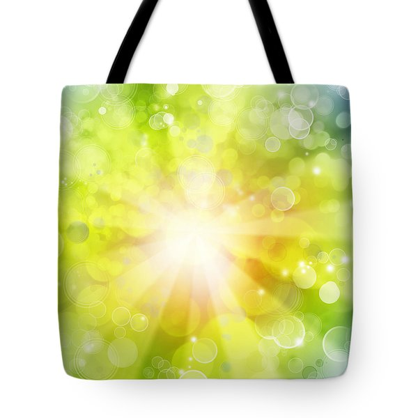 Bright Background Tote Bag by Les Cunliffe