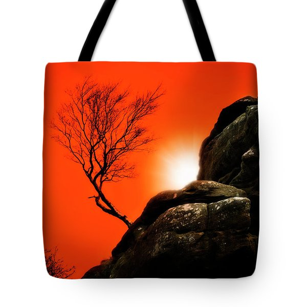 brimham sunset Tote Bag by Meirion Matthias