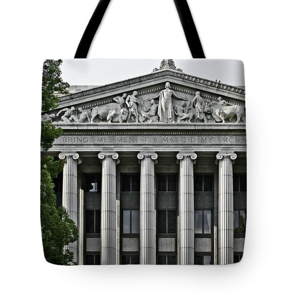 Bring me men to match my mountains Tote Bag by Christine Till