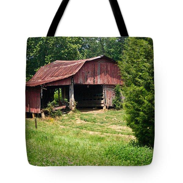 Broad Roofed Barn Tote Bag by Douglas Barnett