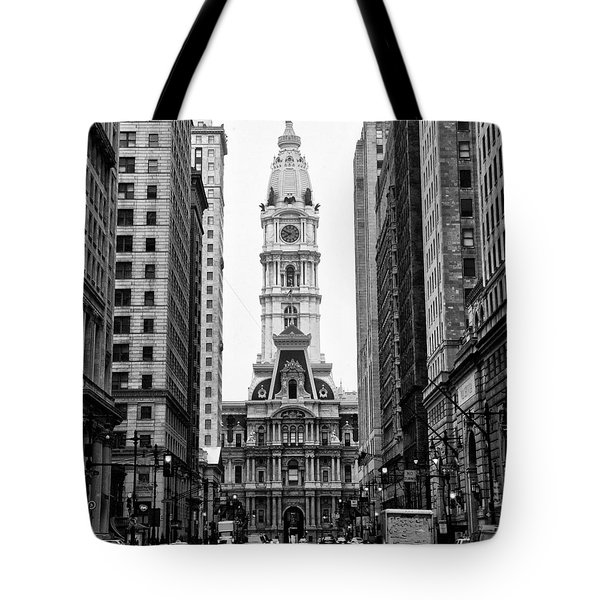 Broad Street at City Hall Tote Bag by Bill Cannon