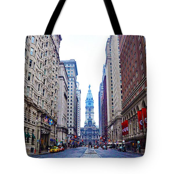 Broad Street Avenue of the Arts Tote Bag by Bill Cannon