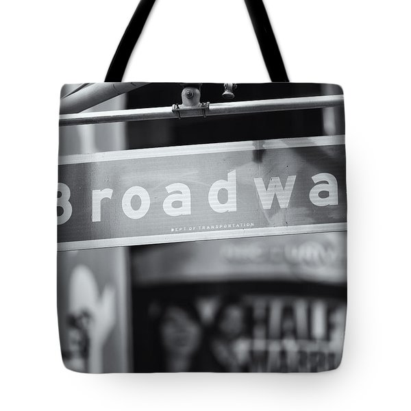 Broadway Street Sign II Tote Bag by Clarence Holmes