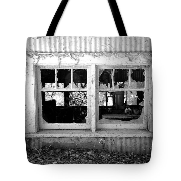 Broken Windows Tote Bag by Cheryl Young