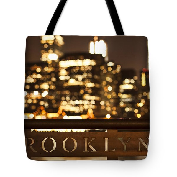 Brooklyn Bubbly Tote Bag by Andrew Paranavitana