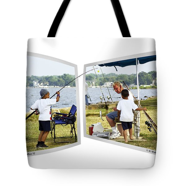Brothers Fishing - Oof Tote Bag by Brian Wallace