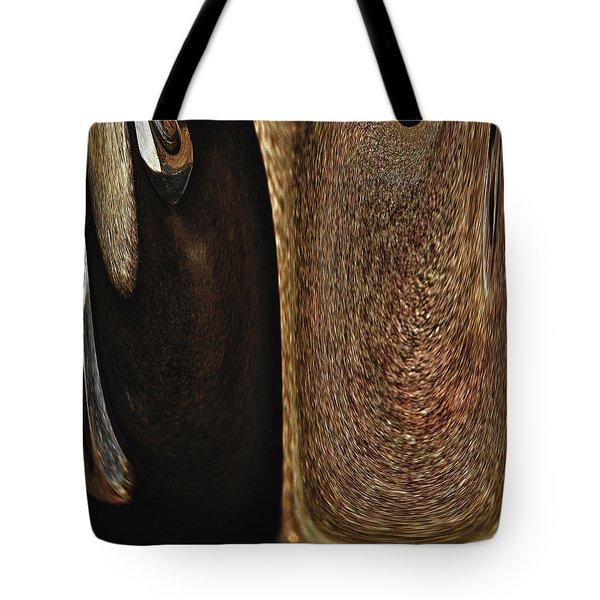 Brown Metal Tote Bag by Skip Nall