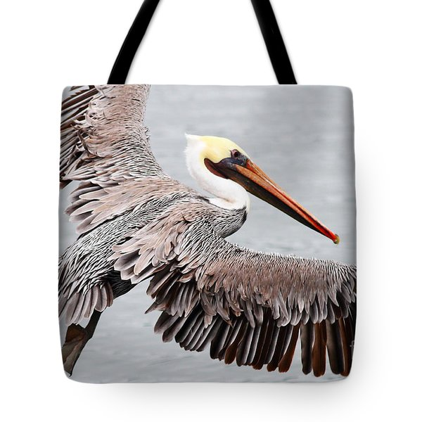 Brown Pelican . 7d8234 Tote Bag by Wingsdomain Art and Photography