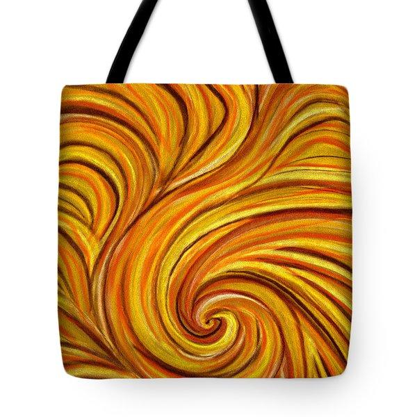 Brown Swirl Tote Bag by Hakon Soreide